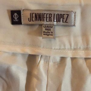 Jennifer Lopez white trousers size 12 nwot